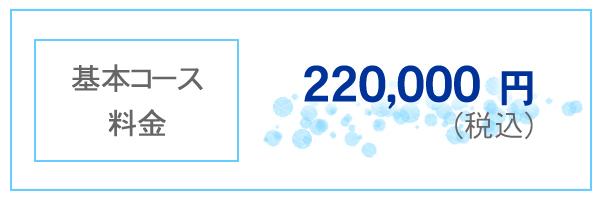 基本コース料金 220,000円