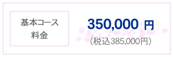 基本コース料金 350,000円 税込み385,000円