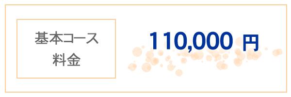 基本コース料金 110,000円